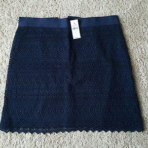 NWT Ann Taylor Loft Lace Skirt Size 6